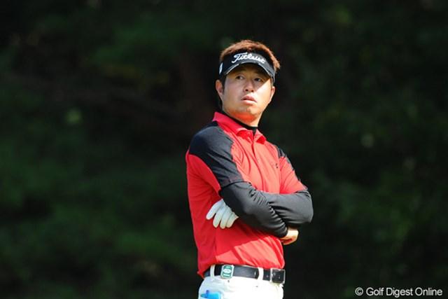 9番で1打罰を受け首位と3打差になってしまった松村道央
