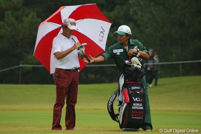 2011年 日本シニアオープンゴルフ選手権競技 3日目 芹澤信雄 最後に一歩後退したけれど…。あしたはきっと頂点へ!
