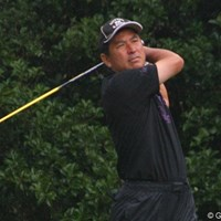 最終日に「69」をマークして、単独4位でフィニッシュした水巻善典 2011年 日本シニアオープンゴルフ選手権競技 最終日 水巻善典
