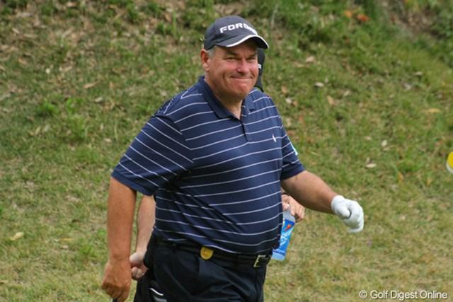 2011年 富士フイルムシニアチャンピオンシップ 最終日 デービッド・ラッセル 会うたびに素敵な笑顔をくれるんです、ラッセルさん
