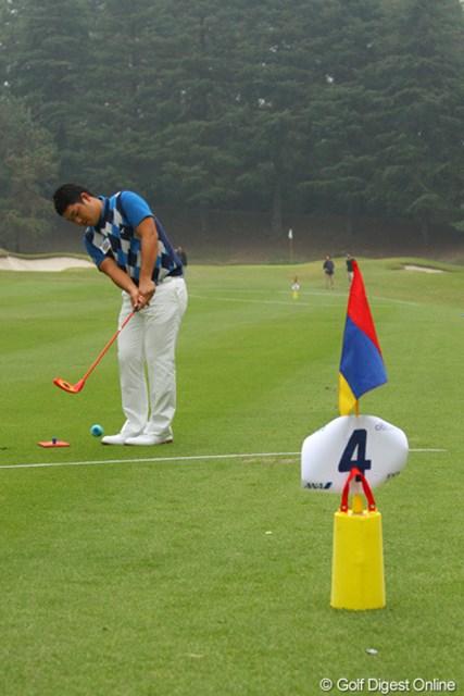 2011年 第9回スナッグゴルフ対抗戦 JGTOカップ全国大会 薗田峻輔 前半苦戦した薗田峻輔は終盤に盛り返し最下位を免れた