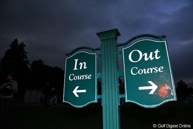 なんでゴルフってinとoutっていうの?