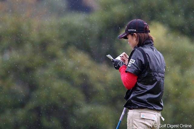 2011年 伊藤園レディスゴルフトーナメント 初日 原江里菜  最近調子が良いですねー