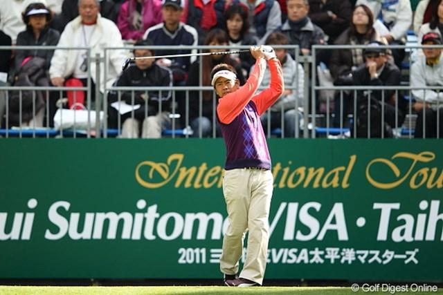 上位陣には40代のベテランがズラリ。藤田寛之は最終日も安定したゴルフを見せたい