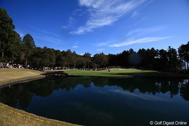2011年 三井住友VISA太平洋マスターズ 最終日 4番ホール 遼くん、本日の池ポチャ1回目の池。