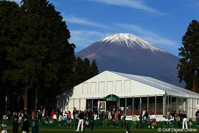2011年 三井住友VISA太平洋マスターズ 最終日 御殿場コース 富士山って朝しか見えないの?