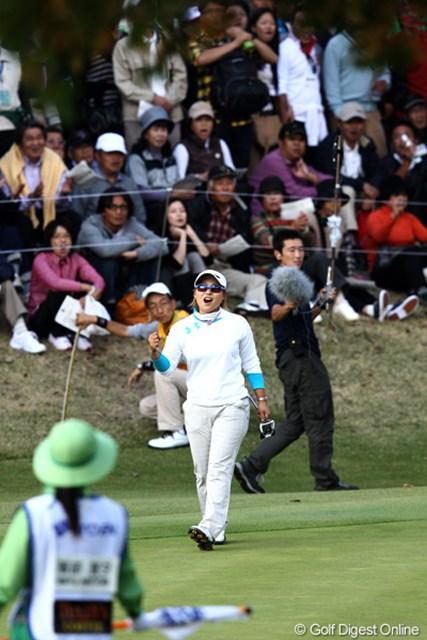 2011年 伊藤園レディスゴルフトーナメント 最終日 馬場ゆかり 珍しい9番での馬場ちゃんのシーン