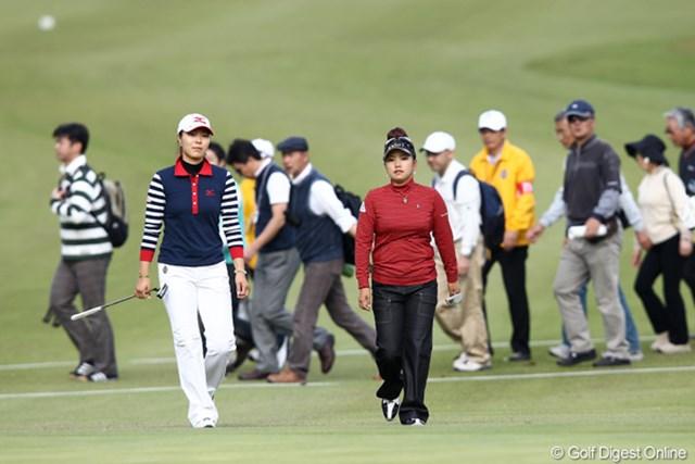 2011年 伊藤園レディスゴルフトーナメント 最終日 服部真夕&青山加織 同門同士最終組対決の結果は仲良く5位タイに