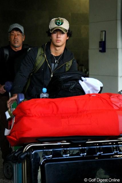 2011年 ザ・プレジデンツカップ 石川遼 到着の遅れを強いられ、ちょっぴりお疲れの様子だった石川遼
