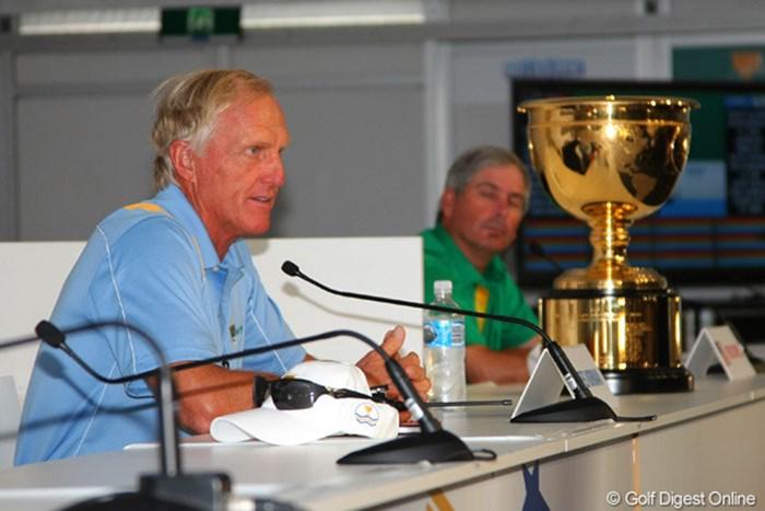 グレッグ・ノーマンは石川遼の遅れにも「心配していないよ」と信頼を置く 2011年 ザ・プレジデンツカップ グレッグ・ノーマン