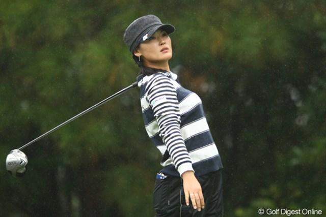 土砂降りの雨、ミスショット・・・北田さんの美人度が3倍増しになる瞬間です(個人的)
