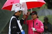 2011年 大王製紙エリエールレディスオープン 2日目 笠りつ子とキャディ