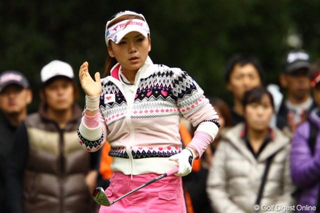 2011年 大王製紙エリエールレディスオープン 最終日 有村智恵 シーズン終盤は思うようなゴルフができず、来年以降への課題とした有村智恵