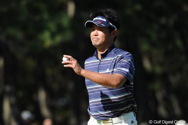 2011年 ダンロップフェニックストーナメント 最終日 武藤俊憲 前半だけで6バーディを奪い、アッと驚くゴボウ抜きで首位に立って、そのまま独走という「横綱相撲」でした。お見事!