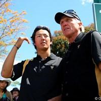 09年に続きキャプテンを務めたG.ノーマンとメンバー入りした石川遼。その絆は前回に増して深まっている 2011年 ザ・プレジデンツカップ 最終日 石川遼 グレッグ・ノーマン