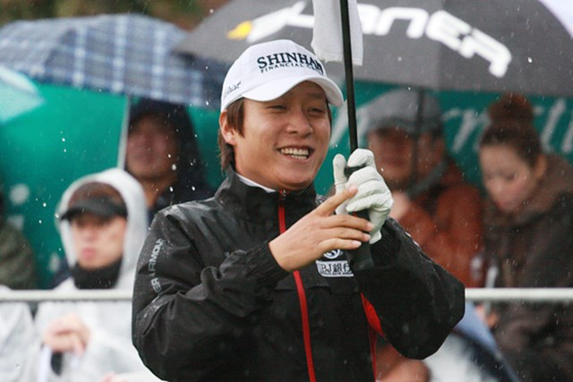 日本ツアーでは今ひとつだった今年のキム・キョンテ。韓国では賞金王に輝いた