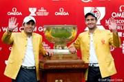2011年 オメガミッションヒルズワールドカップゴルフ 事前 エドアルド・モリナリ&フランチェスコ・モリナリ