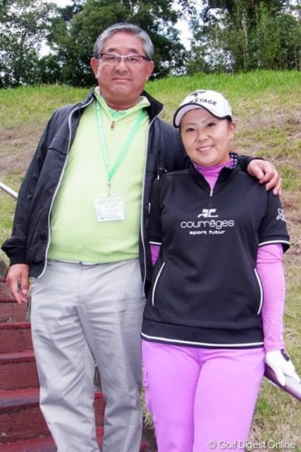 2011年 LPGAツアーチャンピオンシップリコーカップ事前情報 佐伯親子 ごぞんじ佐伯親子。やっぱり親子は仲良いのです