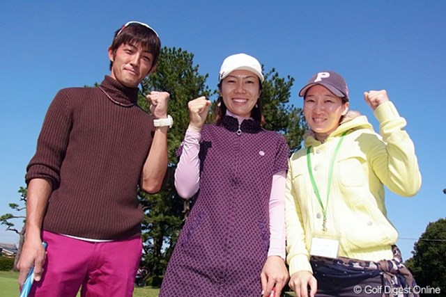 2011年 LPGAツアーチャンピオンシップリコーカップ事前情報 李知姫 先週優勝おめでとう!チーム李知姫の面々