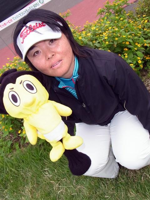2011年 LPGAツアーチャンピオンシップリコーカップ事前情報 不動裕理 日本相撲協会のキャラクター、ひよの山のヘッドカバーを愛用する不動裕理。相撲観戦も大好きです!