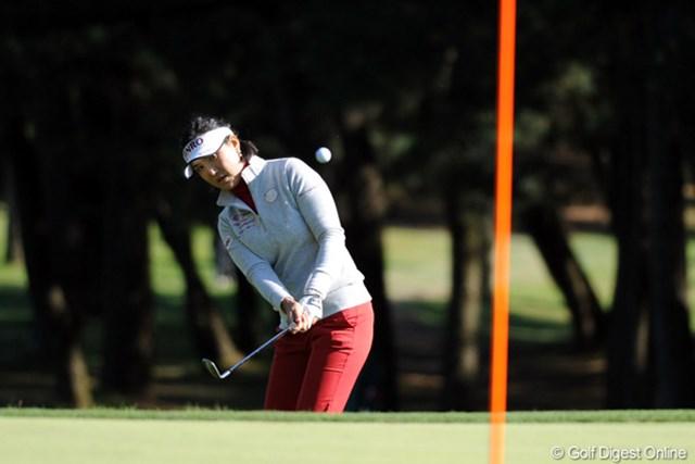2011年 LPGAツアーチャンピオンシップリコーカップ 初日 全美貞 通算4アンダーで単独首位に立った全美貞。2位とは2打差