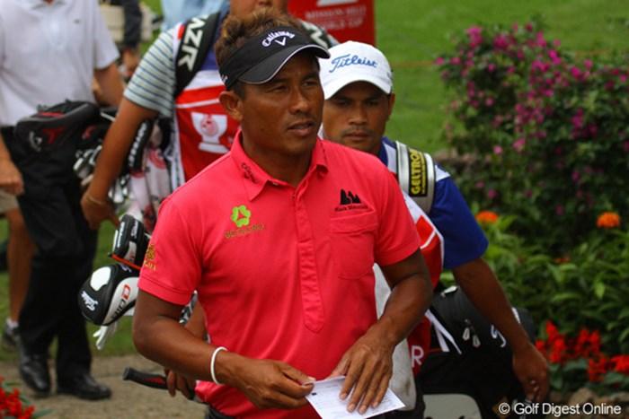 タイの英雄ですが、アジアでも人気は高く中国でももちろん人気大です 2011年 オメガミッションヒルズワールドカップ 初日 トンチャイ・ジェイディ