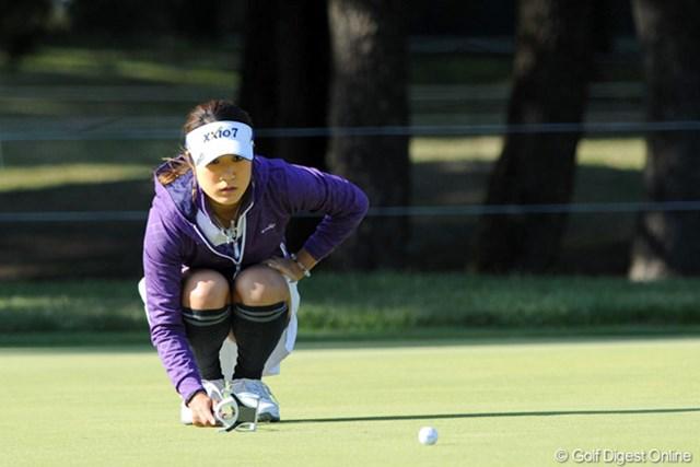 2011年 LPGAツアーチャンピオンシップリコーカップ 2日目 藤本麻子 今年ブレイクした藤本麻子。勢いをかって、初メジャータイトルに挑む!