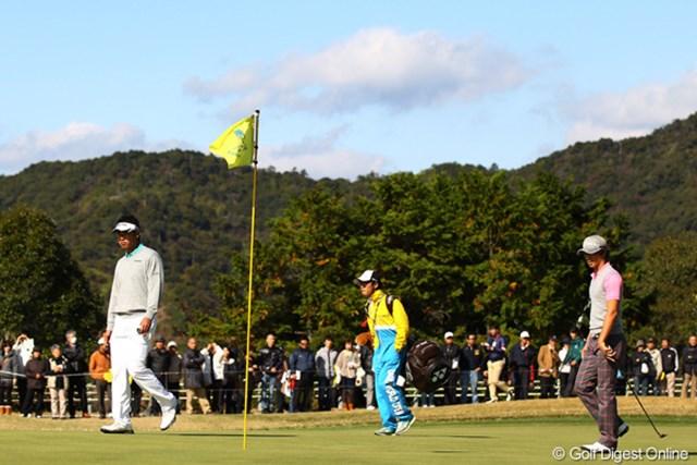 予選落ちした松山英樹だけでなく、2日間同組でラウンドした石川遼もこの日は「75」と後退した。