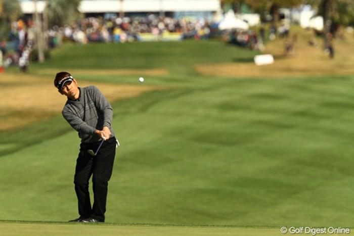 田中秀道が好位置で決勝ラウンドへ。「失うものは無い。気持ちだけは優勝を目指している」 2011年 カシオワールドオープンゴルフトーナメント2日目  田中秀道