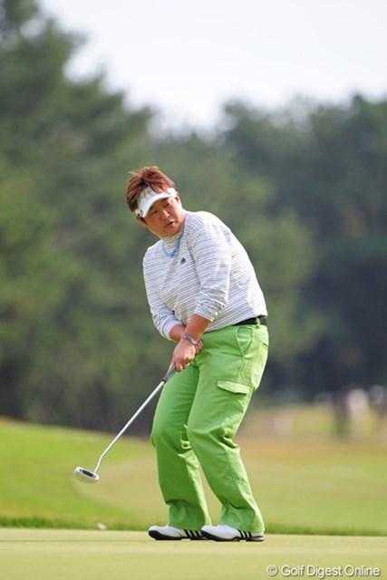 2011年 LPGAツアーチャンピオンシップリコーカップ 最終日 表純子 頑張りました~!最終日に69で~す!日本人トップフィニッシュで~す!夫婦円満で~す!3位T