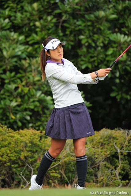 2011年 LPGAツアーチャンピオンシップリコーカップ 最終日 藤本麻子 3日間パープレーを続けたけど、最終日は惜しくも75。でも今年は完全にブレイクしたもんネ~!14位