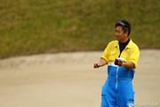 2011年 カシオワールドオープンゴルフトーナメント 最終日 キャディの杉澤さん