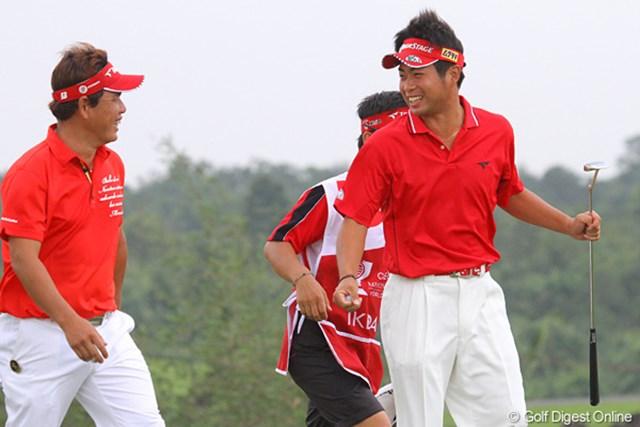 2011年 オメガミッションヒルズワールドカップ 最終日 池田勇太 大好きな哲にい(平塚)と一緒にアジアで戦いたいという池田勇太