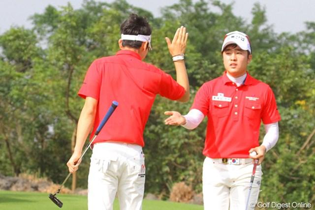 2011年 オメガミッションヒルズワールドカップ 最終日 キム・ヒョンソン 朴星俊 スコアを4つ伸ばして9位タイに食い込んだ韓国