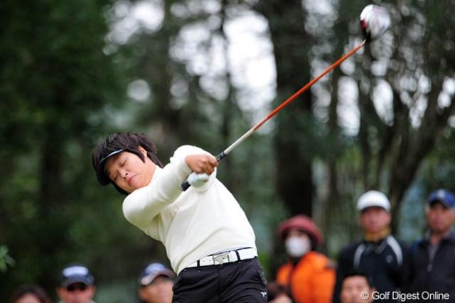 2011年 LPGAツアーチャンピオンシップリコーカップ 最終日 野村敏京 米ツアーより日本ツアー。来年は国内重視の方針に切り替えた野村敏京