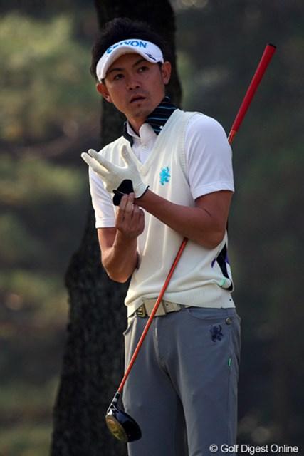2011年 ゴルフ日本シリーズJTカップ 事前  諸藤将次 今季ブレークした諸藤将次。選ばれしものが集う最終戦も豪快なショットを放つ