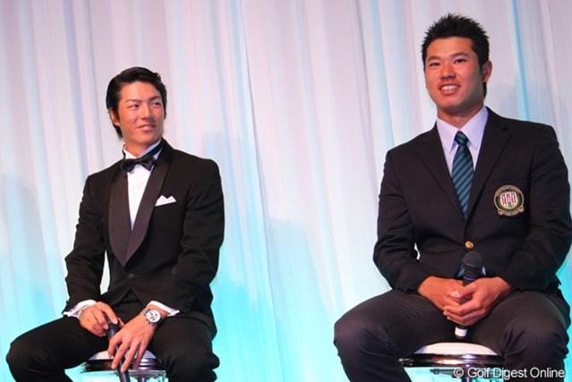 表彰式に出席した石川遼、松山英樹はそれぞれにタイガー・ウッズの復活優勝についてコメントをよせた
