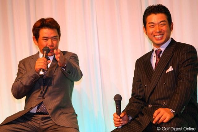 2011年 ジャパンゴルフツアー表彰式 池田勇太 平塚哲二 池田勇太と平塚哲二のW杯戦士はトークショーに参加