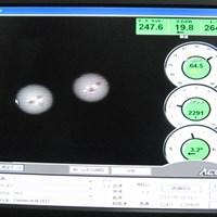 弾道を計測してみると・・・高打ち出し、低スピン弾道なので、キャリーとランの両方で飛距離が稼げるドライバーだ マーク試打 グローブライド オノフドライバー タイプD 赤(2012年モデル) NO.5