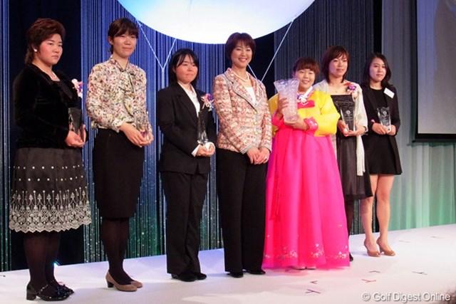 2年連続で最優秀選手賞を受賞したアン・ソンジュ。朝鮮の民族衣装であるチマチョゴリで登場した