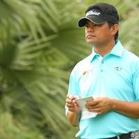 先週は日本で3ツアーズに出場。シニアもタフ 2011年 タイゴルフ選手権 2日目 フランキー・ミノザ