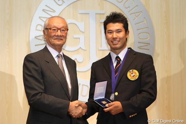 2011年 JGAナショナルチーム慰労会 松山英樹 今年は飛躍の1年となった松山英樹だが、本人は「なにも変わってないです」とそっけない