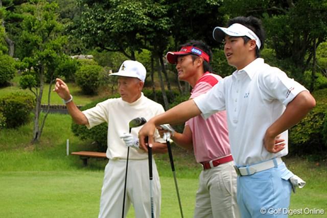 2011年 ホットニュース 杉原輝雄 杉原輝雄、宮本勝昌、石川遼の3人が「パナソニックオープン」の茨木CCを視察ラウンド※写真は2008年