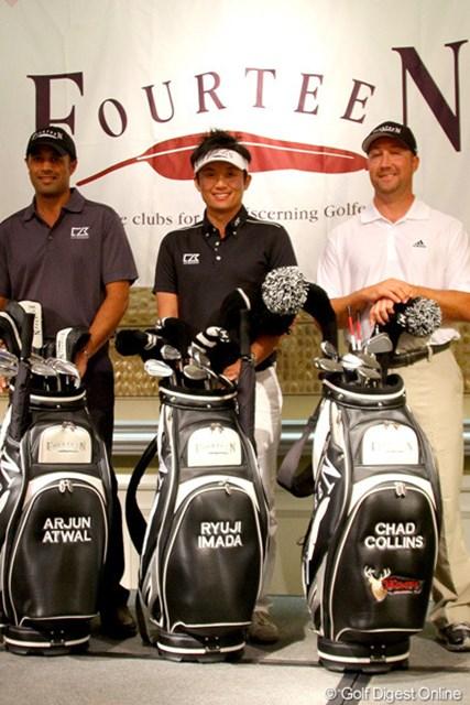 フォーティーンとの用具契約を発表した今田竜二。米国PGAツアーではアージュン・アトワルとチャド・コリンズに続き3人目となる