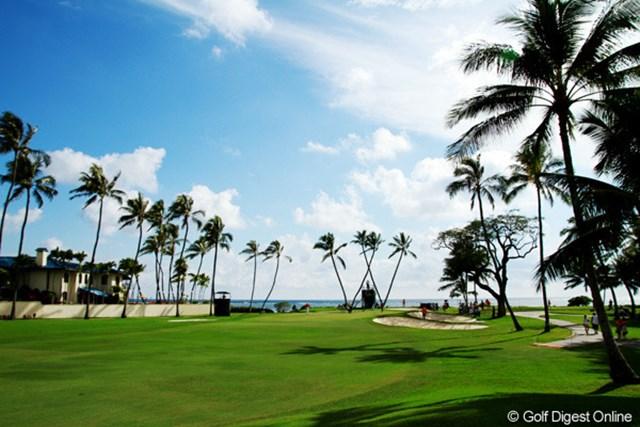 昨年とはうってかわって好天に恵まれたハワイ。左はソニーの盛田邸です