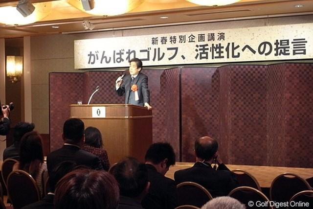 スポーツジャーナリストの二宮清純による特別講演も行われた