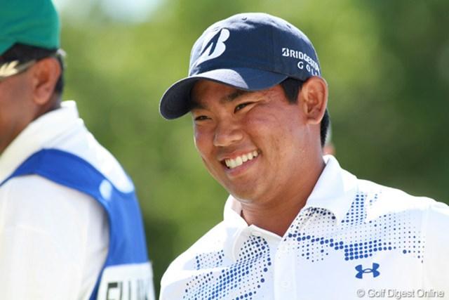 地元ハワイ出身のタッド・フジカワが17位タイに浮上。日本ツアーに出場した当時よりも逞しい顔になった
