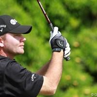 今田と同組でプレーしたゲイニーは、両手にグローブをすることで有名 2012年 ソニーオープンinハワイ 3日目 トミー・ゲイニー