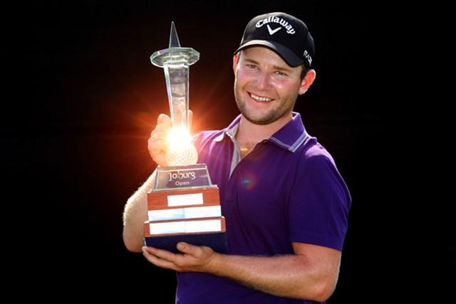 2012年 ヨハネスブルグオープン 最終日 ブランデン・グレース うれしいツアー初優勝をマークしたブランデン・グレース。南アフリカからまた将来が楽しみな選手が出てきた。(Getty Images/Warren Little)