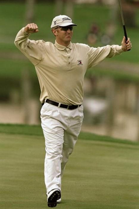 99年にはデビッド・デュバルがPGAツアー史上3人目の「59」をマークし大逆転優勝を飾った※写真は99年ボブホープ・クライスラークラシック(Harry How/Getty Images) 2012年 佐渡充高が簡単解説!初めてのPGAツアー【第二十一回】 デビッド・デュバル